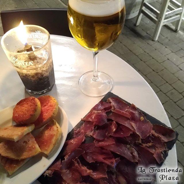Cerveza y Cecina